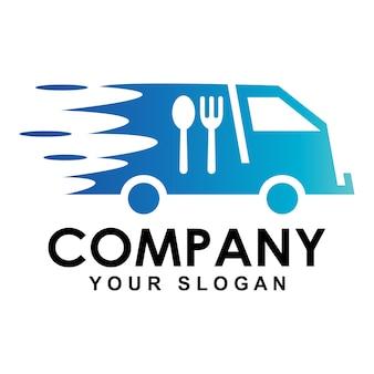 Logotipo de carro de entrega de fast food