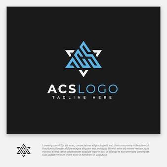 Logotipo de cartas acs em preto