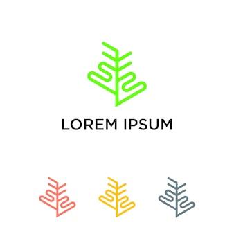Logotipo de carvalho e pinus