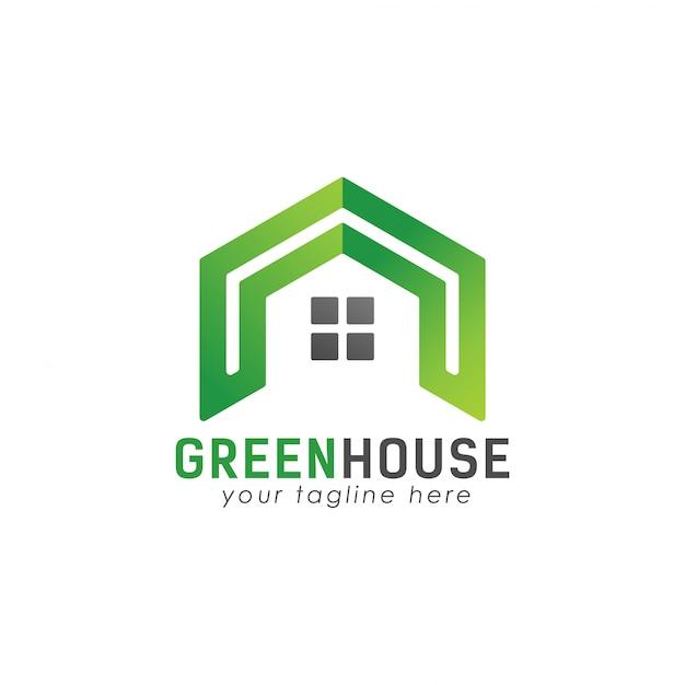 Logotipo de casa verde legal