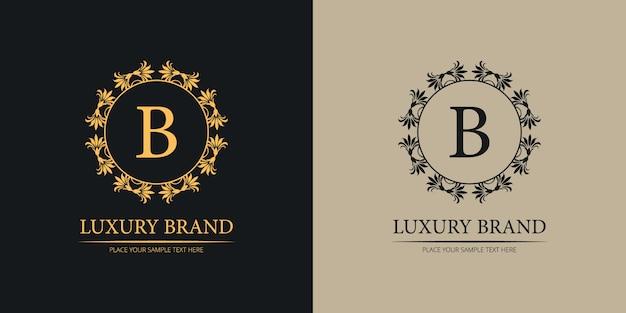 Logotipo de casamento de marca de luxo
