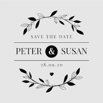 Logotipo de casamento minimalista
