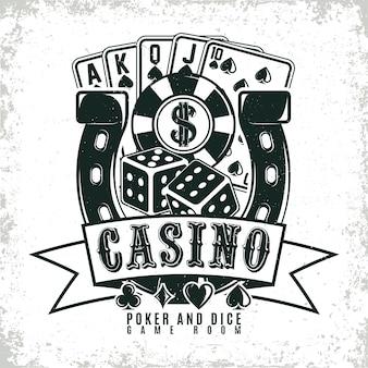Logotipo de cassino vintage