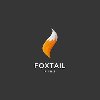 Logotipo de cauda de raposa