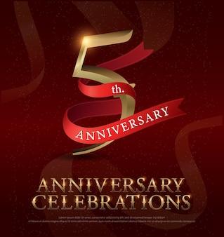 Logotipo de celebração do aniversário de 5 anos