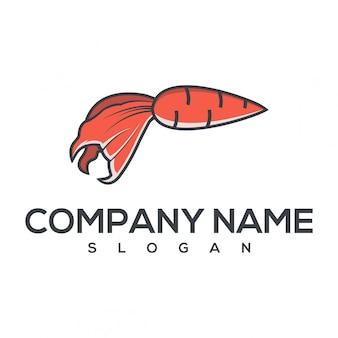 Logotipo de cenoura de peixe