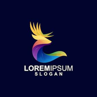 Logotipo de cervos gradientes