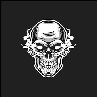 Logotipo de chama de caveira