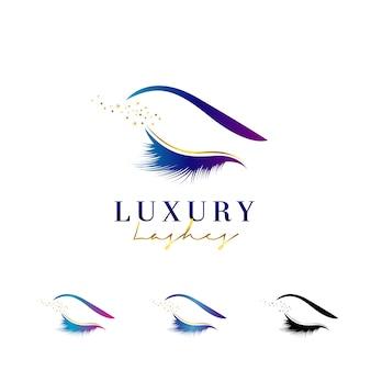 Logotipo de chicotes de olho de luxo