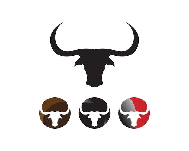 Logotipo de chifre de touro e símbolos modelo ícones app