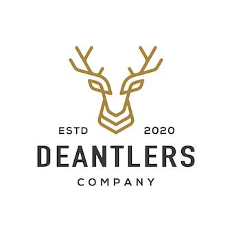 Logotipo de chifre de veado e ícone.