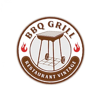 Logotipo de churrasco para restaurante