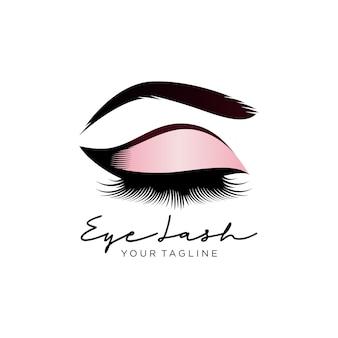 Logotipo de cílios de beleza de luxo