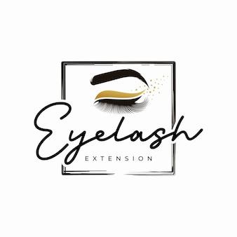 Logotipo de cílios de luxo