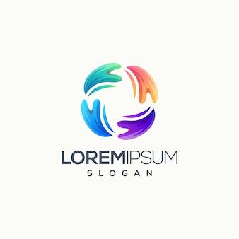 Logotipo de círculo colorido abstrato