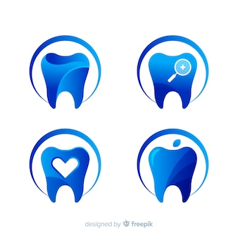 Logotipo de clínica dentária de gradiente