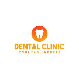 Logotipo de clínica dentária profissional