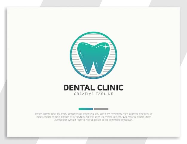 Logotipo de clínica odontológica gradiente moderno com círculo