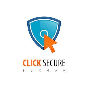 Logotipo de clique seguro