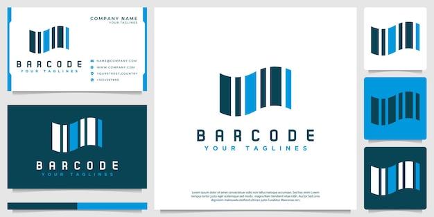 Logotipo de código de barras simples, com estilo abstrato