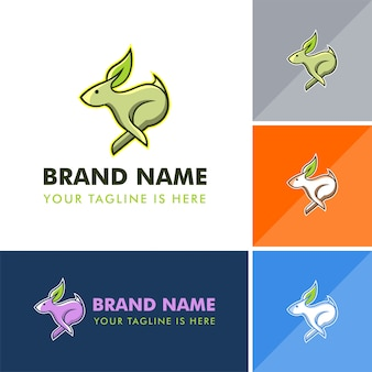 Logotipo de coelho natural