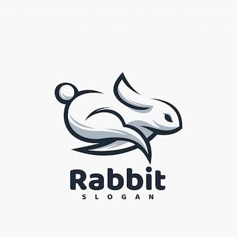 Logotipo de coelho pronto para uso
