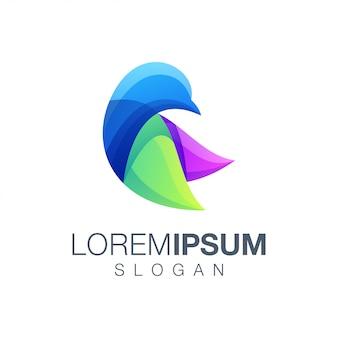 Logotipo de coleção gradiente de pássaro