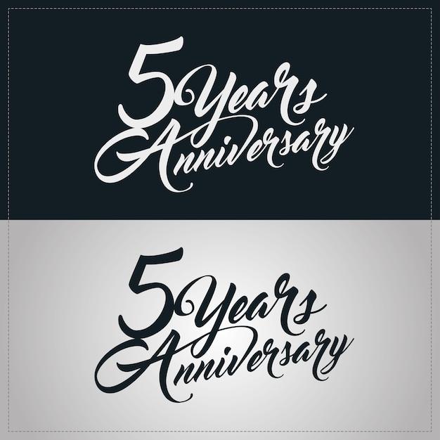Logotipo de comemoração de aniversário de 5 anos