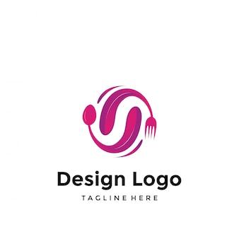 Logotipo de comida e bebida