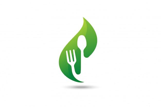 Logotipo de comida verde.