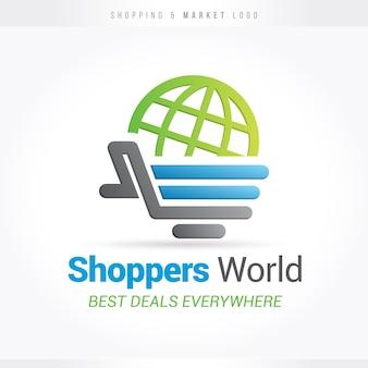 Logotipo de compras e mercados