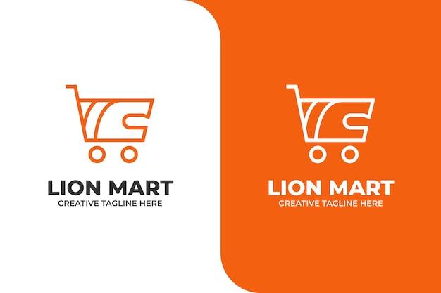 Logotipo de compras online de carrinho de carrinho