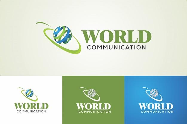 Logotipo de comunicação do mundo