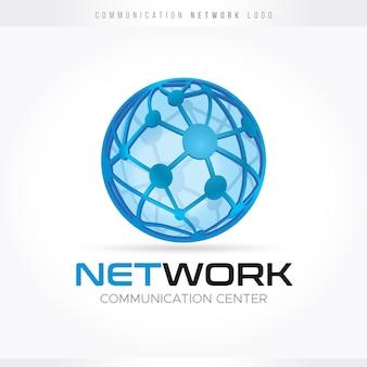 Logotipo de comunicação e rede
