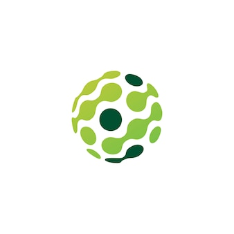 Logotipo de conexão de tecnologia de esfera de ponto