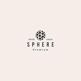 Logotipo de conexão ponto esfera tecnologia