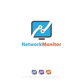 Logotipo de conexões de rede