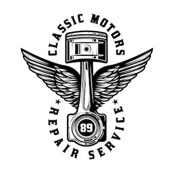 Logotipo de conserto de motocicletas vintage