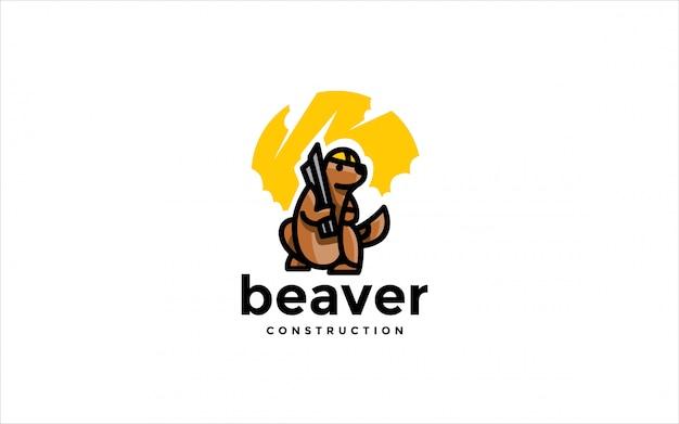Logotipo de construção de castor