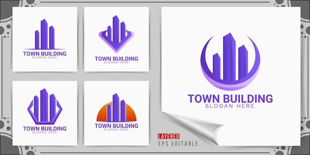 Logotipo de construção de cidade