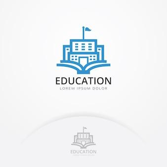 Logotipo de construção de educação