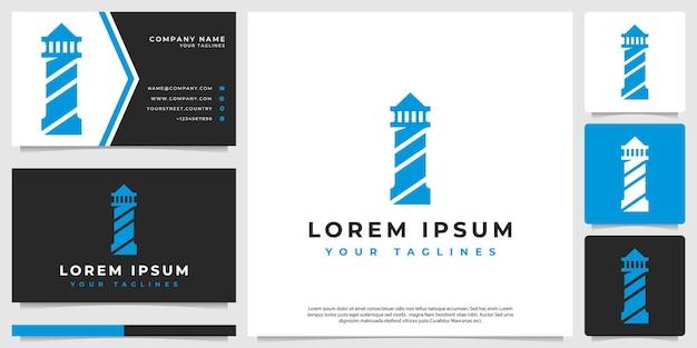 Logotipo de construção de farol minimalista moderno