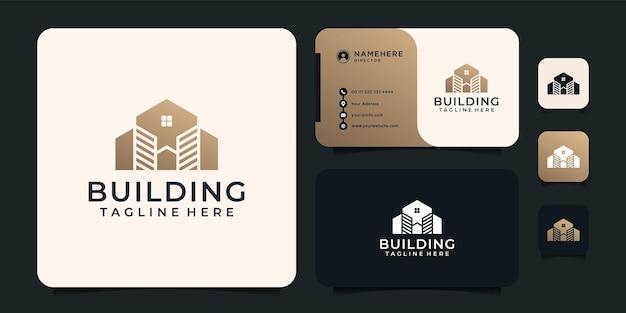Logotipo de construção de gradiente
