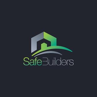 Logotipo de construtores de construção de imóveis