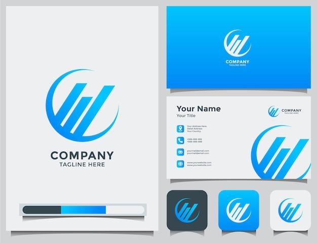 Logotipo de contabilidade e cartão de visita