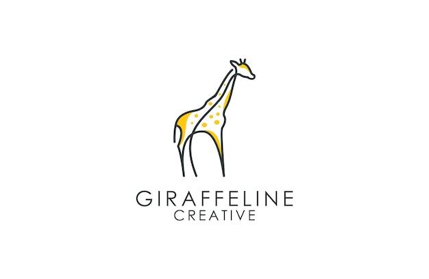 Logotipo de contorno de girafa