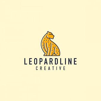 Logotipo de contorno de leopardo