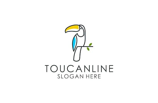 Logotipo de contorno de tucano