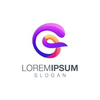 Logotipo de cor abstrata letra g