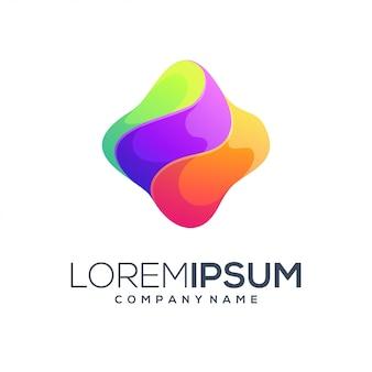 Logotipo de cor abstrata